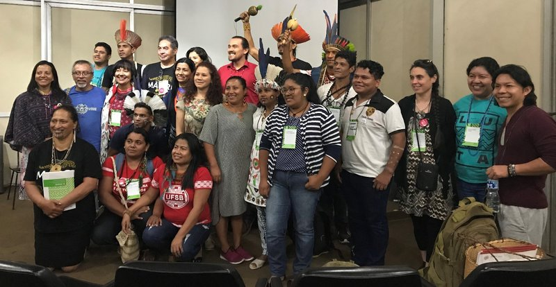 Indigenous participants at Viva Lingua Viva symposium